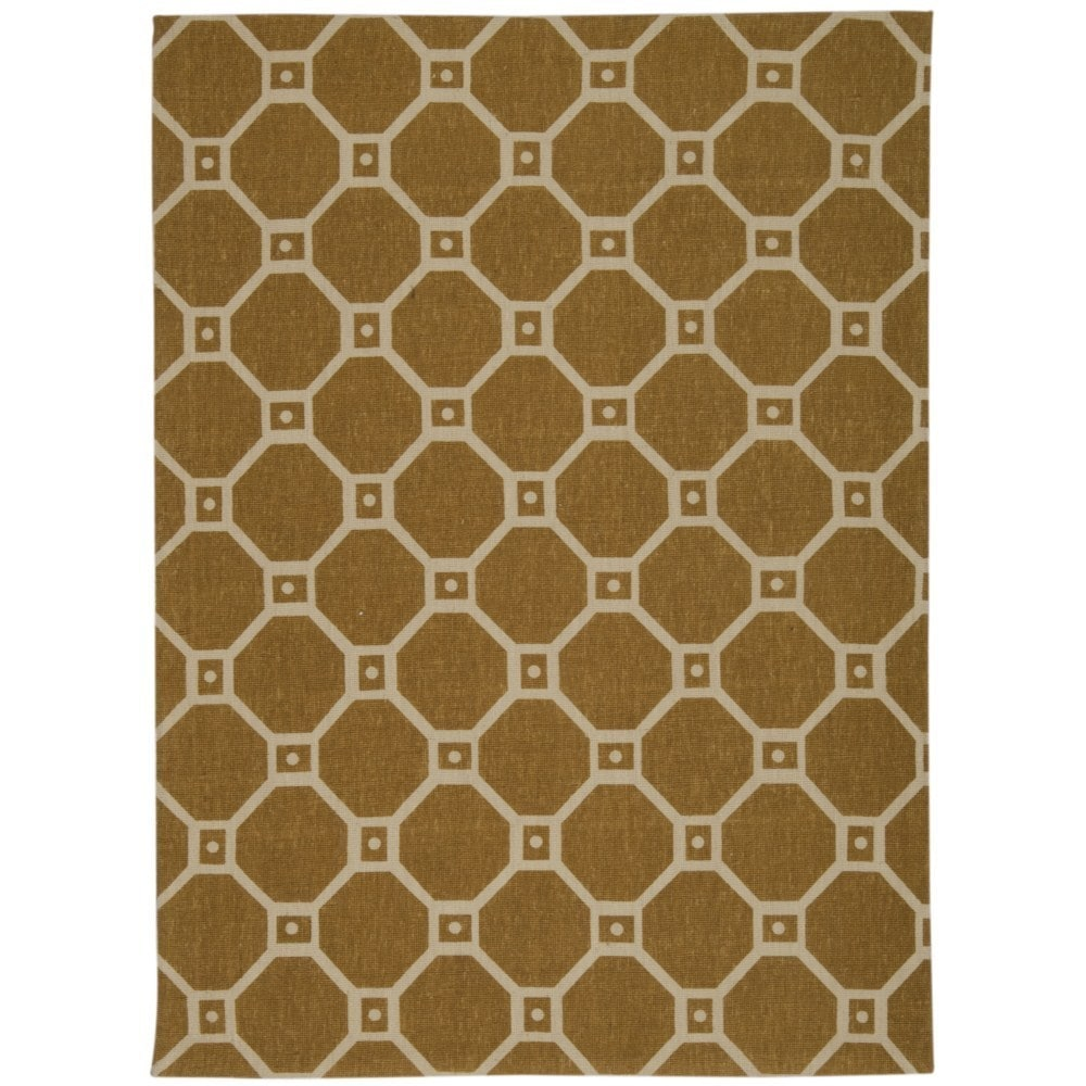 Waverly Color Motion Ferris Wheel Gold Area Rug by Nouris...