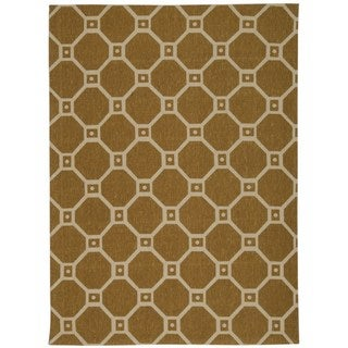 Waverly Color Motion Ferris Wheel Gold Area Rug by Nourison (5' x 7')