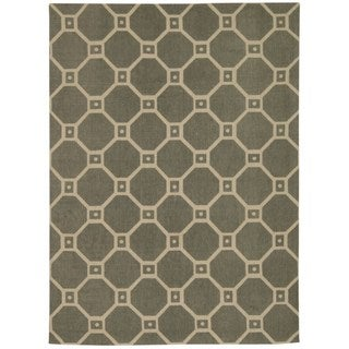 Waverly Color Motion Ferris Wheel Stone Area Rug by Nourison (5' x 7')