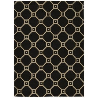 Waverly Color Motion Ferris Wheel Black Area Rug by Nourison (5' x 7')