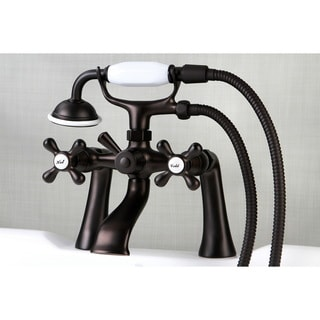 Victorian Deck-mount Clawfoot Oil Rubbed Bronze Tub Faucet with Hand Shower