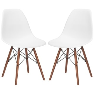 Edgemod Vortex Dining Side Chair in Walnut Legs (Set of 2)