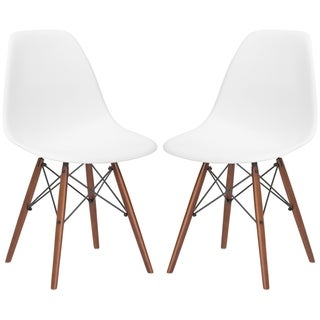Vortex Dining Side Chair in Walnut Legs (Set of 2)