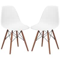 Poly and Bark Vortex Dining Chair in Walnut Legs (Set of 2)