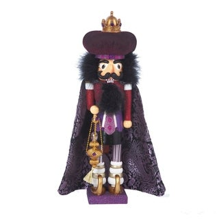 Kurt Adler 18-inch Hollywood Purple King Nutcracker