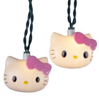 Kurt Adler 10-light Blow Mold Hello Kitty Light Set