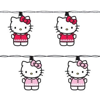 Kurt Adler UL 10-light Hello Kitty Pink Light Set