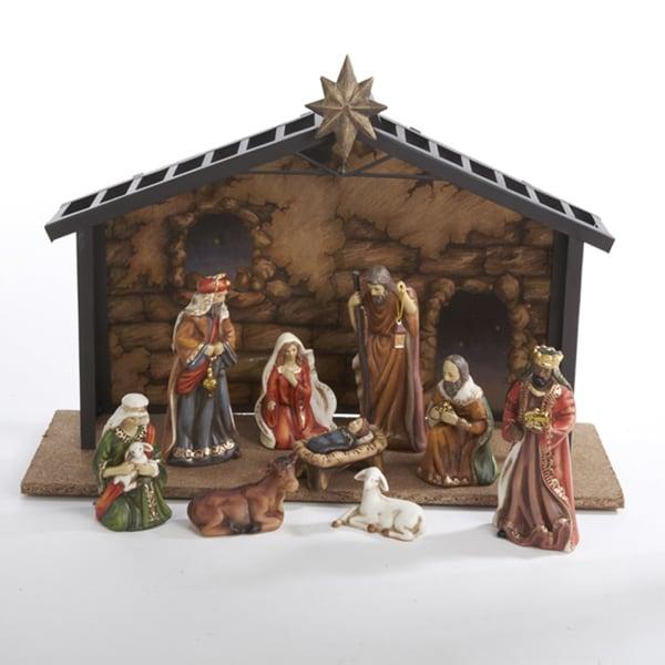Shop Kurt Adler 3 5 5 Inch Porcelain 10 Piece Nativity Set