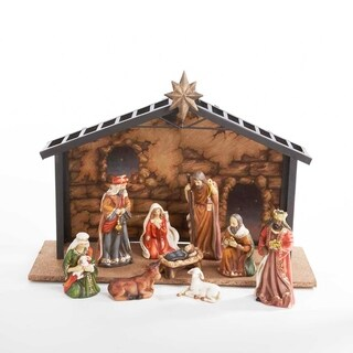Kurt Adler 3.5-5-inch Porcelain 10-piece Nativity Set