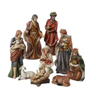 Kurt Adler 9-inch 9-piece Porcelain Nativity Figures Tablepiece Set|https://ak1.ostkcdn.com/images/products/9513352/P16692079.jpg?impolicy=medium