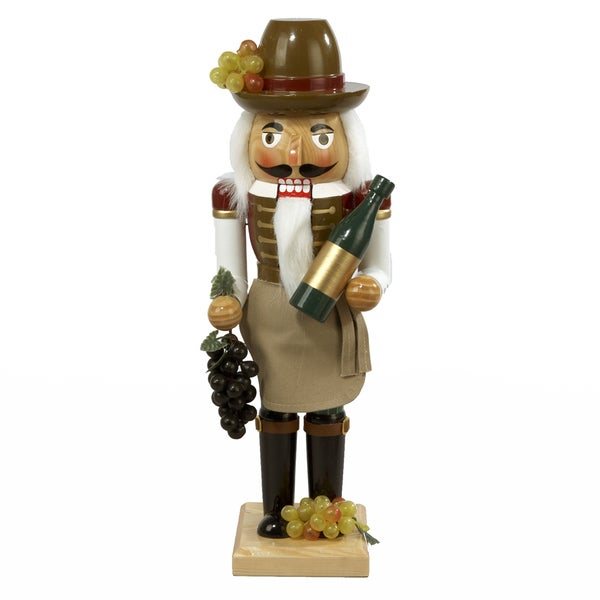 Kurt Adler 15-inch Wooden Wine Grower Nutcracker