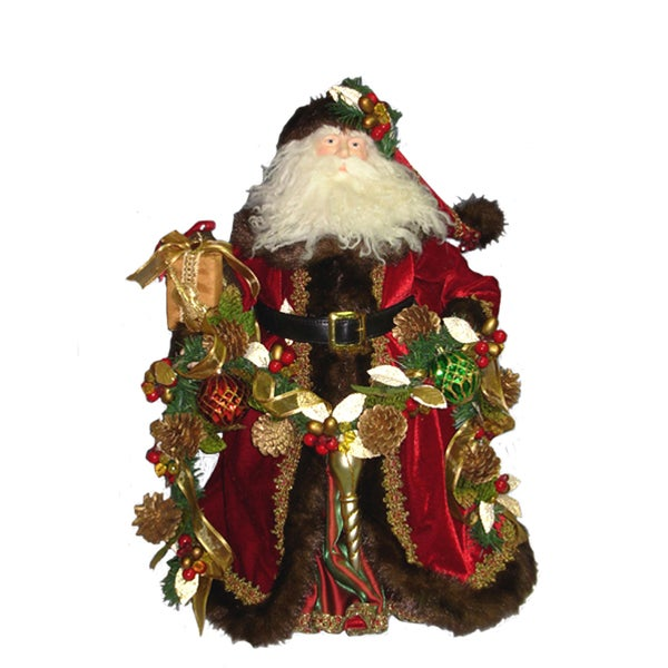 Kurt Adler 23-inch Fabric Decorated Santa Tablepiece