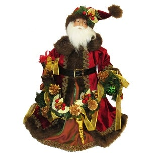 Kurt Adler 23-inch Fabric Decorated Santa Tablepiece