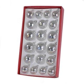 Kurt Adler Iridescent Glass Ball 20-piece Ornament Set