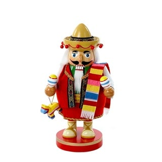 Link to Kurt Adler 10.25-Inch Chubby Mexican Nutcracker Tablepiece Similar Items in Decorative Accessories