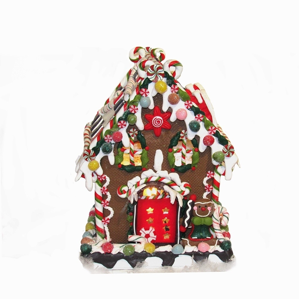 Kurt S. Adler 8 5/8-inch Claydough and Metal Candy House ...