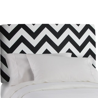 Skyline Furniture Upholstered Headboard in Zig Zag Black White