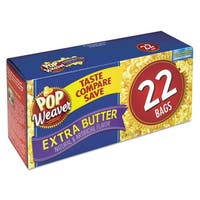 Pop Weaver Extra Butter 2.5-ounce Microwave Popcorn Bag (Box of 22)