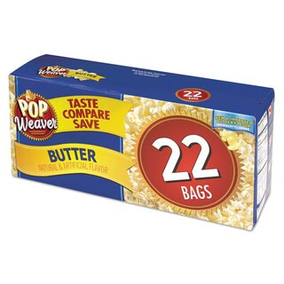 Pop Weaver Butter Microwave Popcorn 2.17-ounce Bag (Box of 22)