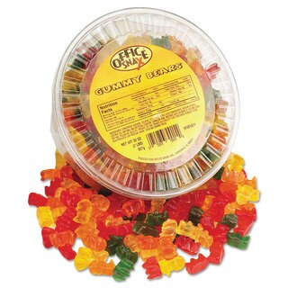 Office Snax 2-pound Assorted Flavor Gummy Bears Tub (Pack of 2)