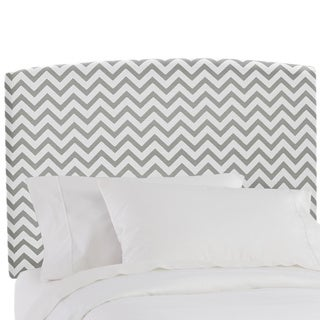 Skyline Furniture Upholstered Headboard in Zig Zag Ash White