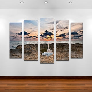 Ready2hangart Bruce Bain 'Sunset Rock' Canvas Wall Art