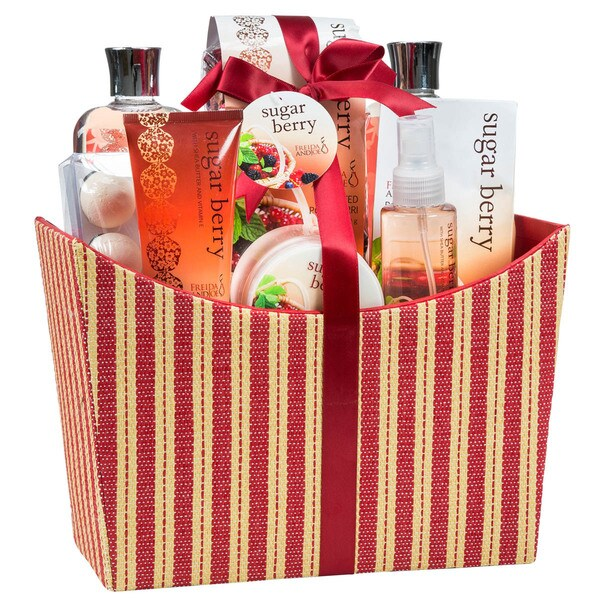 Sugar Berry Tapestry Red Box Spa Bath Gift Set