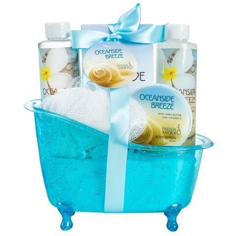 Ocean Side Breeze Tub Spa Bath Gift Set - BLue