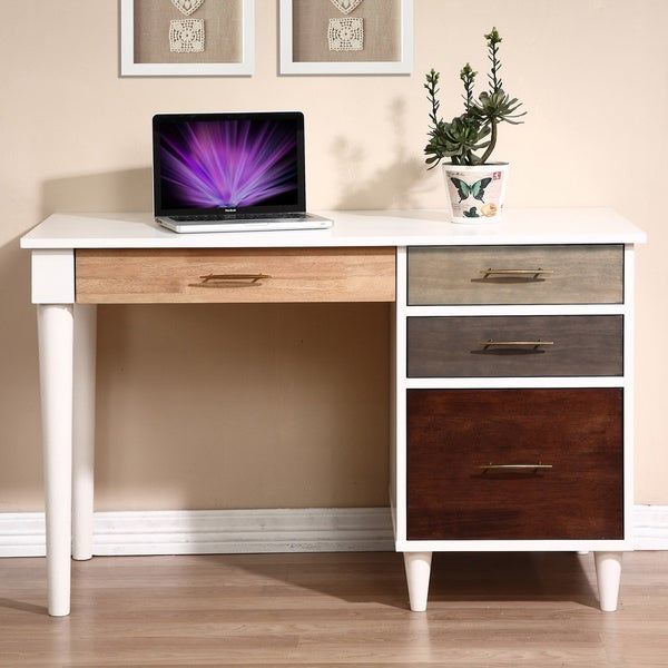 Chrisitan 3-drawer Writing Desk - Free Shipping Today - Overstock.com