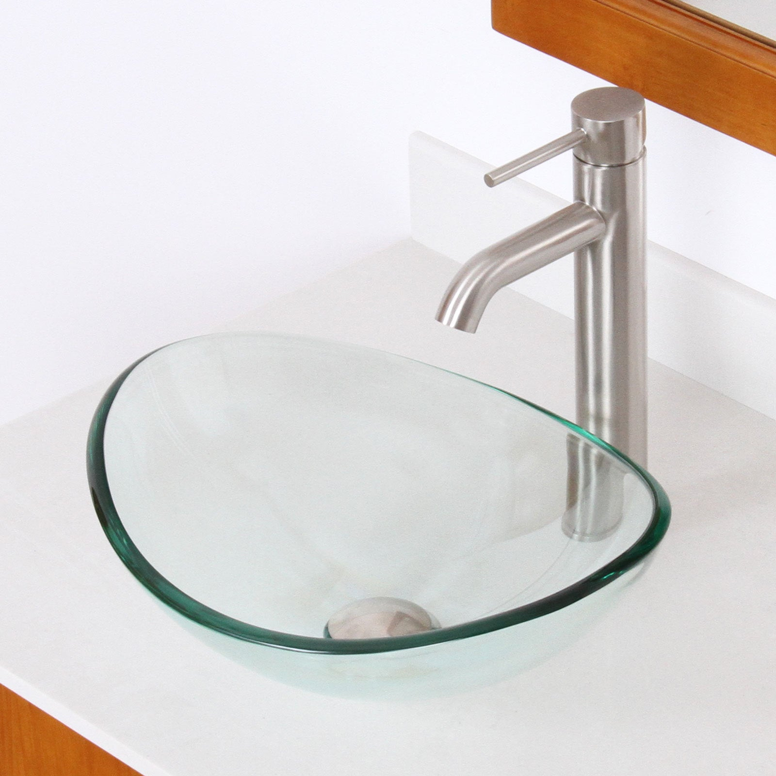 Elite 1418 F371023 Oval Tempered Glass Bathroom Vessel Sink Overstock 9513839