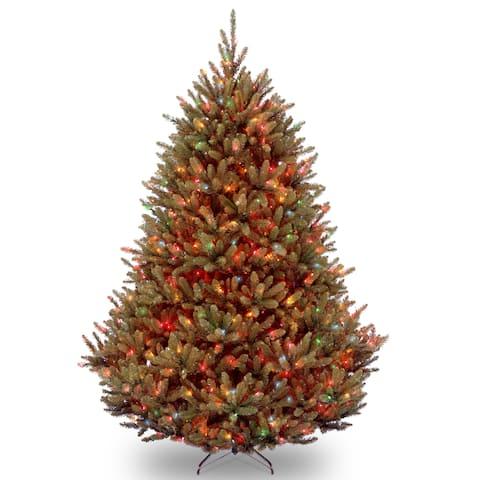 7.5-foot Natural Fraser Medium fir Hinged Tree with 1000 Multi Lights