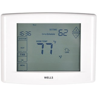 Wells WEL6000UTK Touch-Screen 7-D Programmable Thermostat