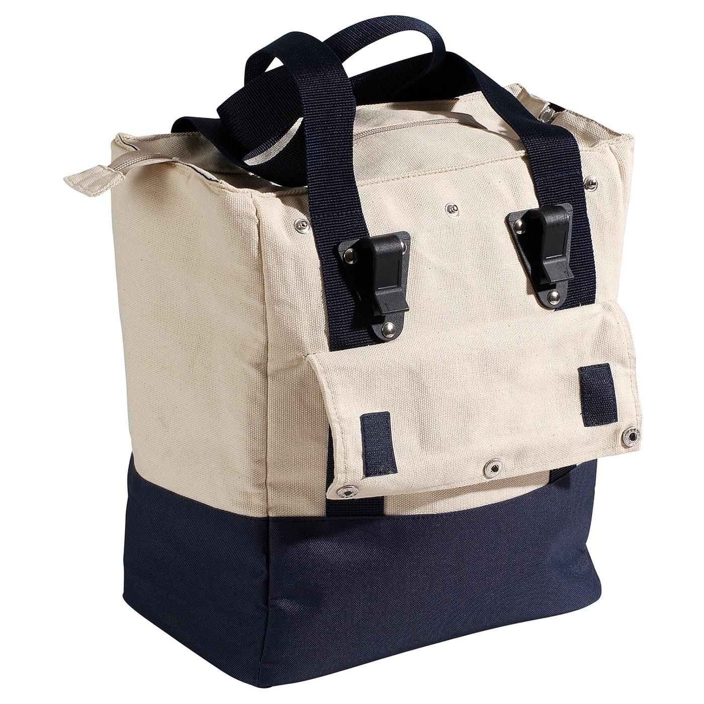 Nantucket Rear Portland Pannier Bag (Ivory/Navy Blue)
