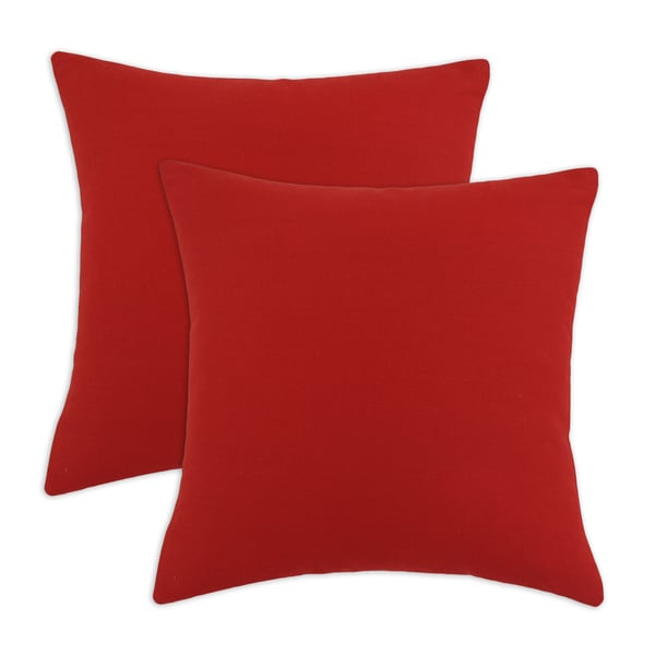 Duck Red 17-inch Throw Pillow (Set of 2) - Free Shipping On Orders Over $45 - Overstock.com ...