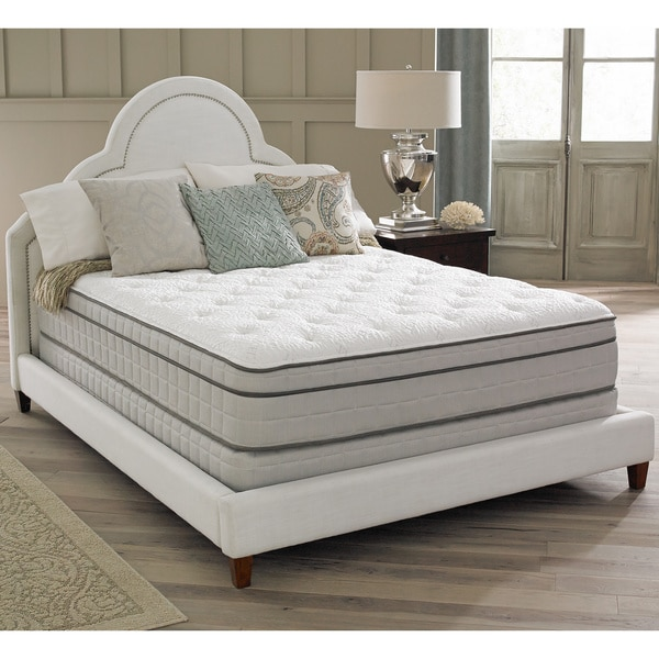 spring air premium collection antoinette euro top full size mattress set free shipping today. Black Bedroom Furniture Sets. Home Design Ideas