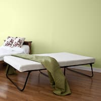 Priage Portable Folding Twin Guest Mattress and Bed Set