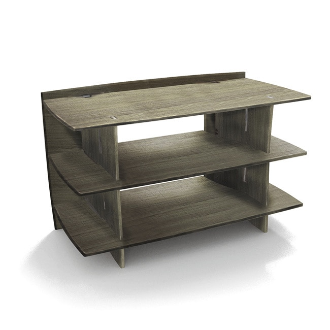 LEGARE 24 x 38-inch Grey Driftwood 3-shelf Media Stand (G...