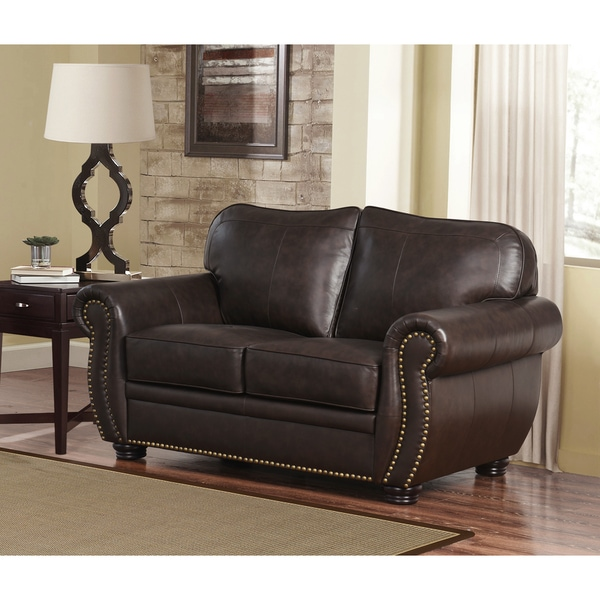 Bon Abbyson Richfield Top Grain Leather Loveseat