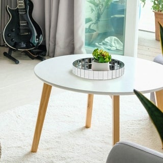 Circular Mirrored Surface Decorative Tray