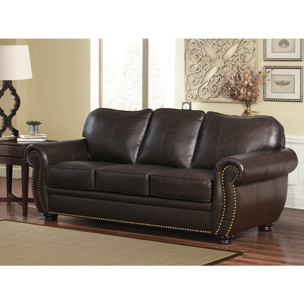 Charmant Abbyson Richfield Top Grain Leather Sofa