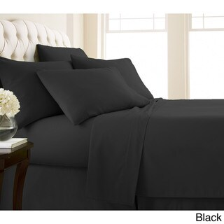 Vilano Series Ultra Soft Extra Deep Pocket 6-Piece Sheet Set (California King - Black)