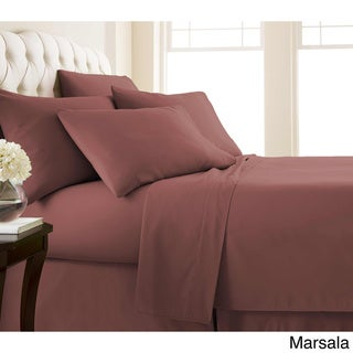 Vilano Series Ultra Soft Extra Deep Pocket 6-Piece Sheet Set (Full - Marsala)