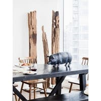 Aurelle Home Tall Teak Driftwood Art on Marble Stand