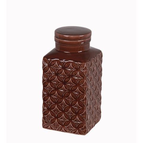 Small Ceramic Jar with Lid