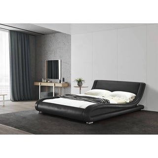 California King Contemporary Upholstered Platform Bed