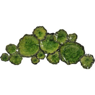 Aurelle Home Green Iron Lily Pad Wall Decor