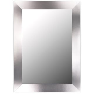 Stainless Flat Silver Framed Wall Mirror