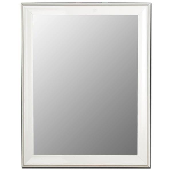 Grande Glossy White Framed Wall Mirror
