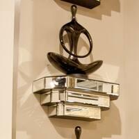 Mirrored Surface Decorative Wall Shelf