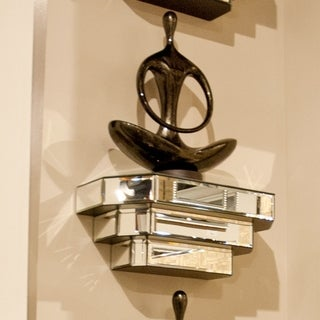 Mirrored Surface Decorative Wall Shelf